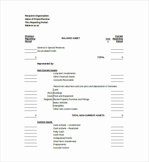 Balance Sheet Template Word Awesome Balance Sheet Templates 18 Free Word Excel Pdf