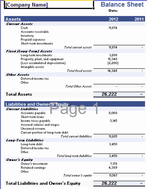 Balance Sheet Template Word Best Of 22 Free Balance Sheet Templates In Excel Pdf Word