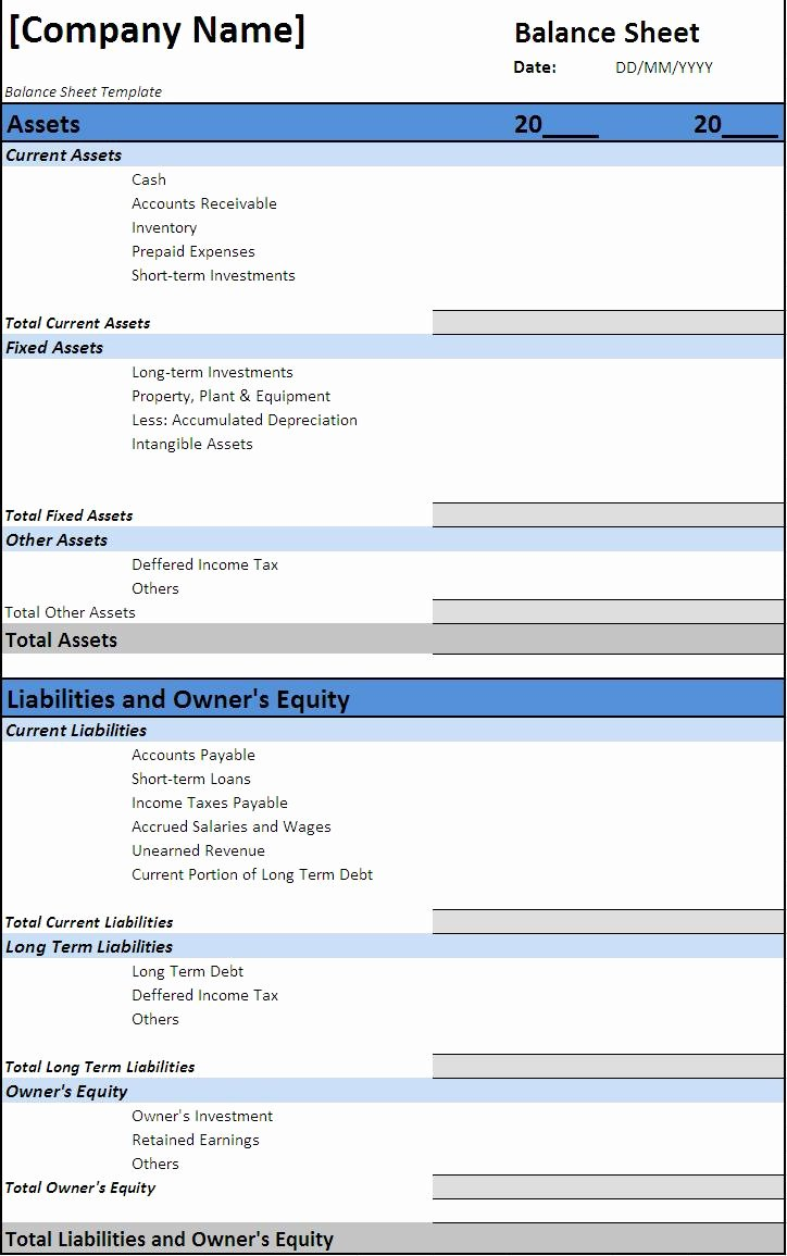 Balance Sheet Template Word Best Of Balance Sheet Template