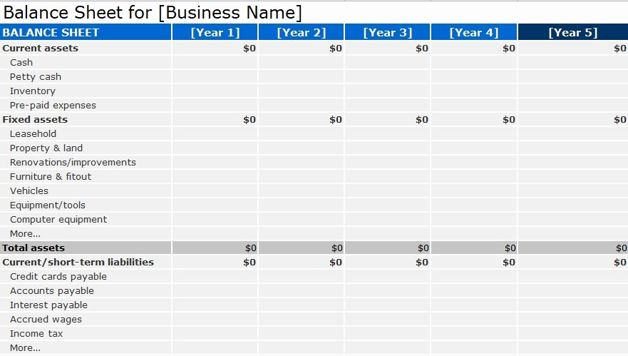 Balance Sheet Template Word Elegant Balance Sheet Template format Excel and Word Excel Tmp