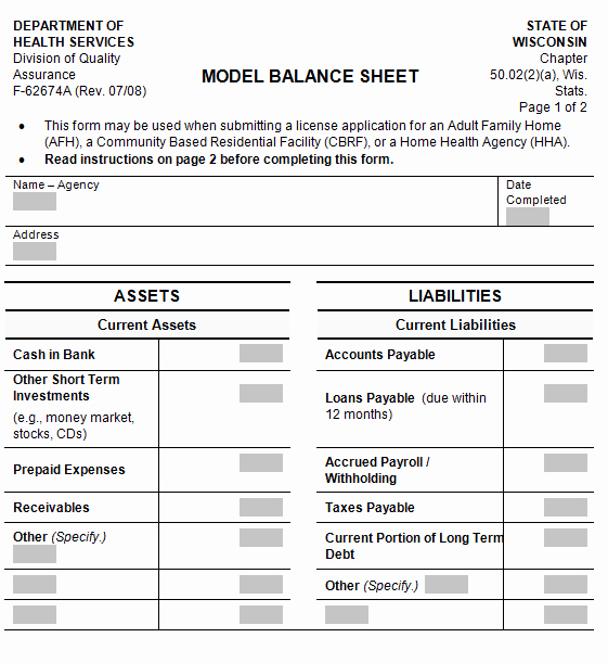 Balance Sheet Template Word Fresh 22 Free Balance Sheet Templates In Excel Pdf Word