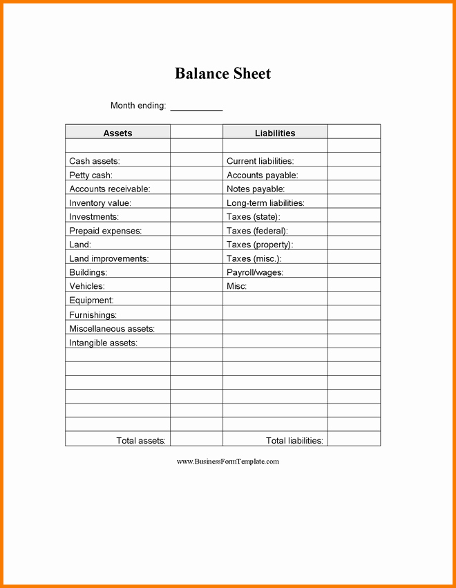 Balance Sheet Template Word Inspirational Balance Sheet Template Google Docs