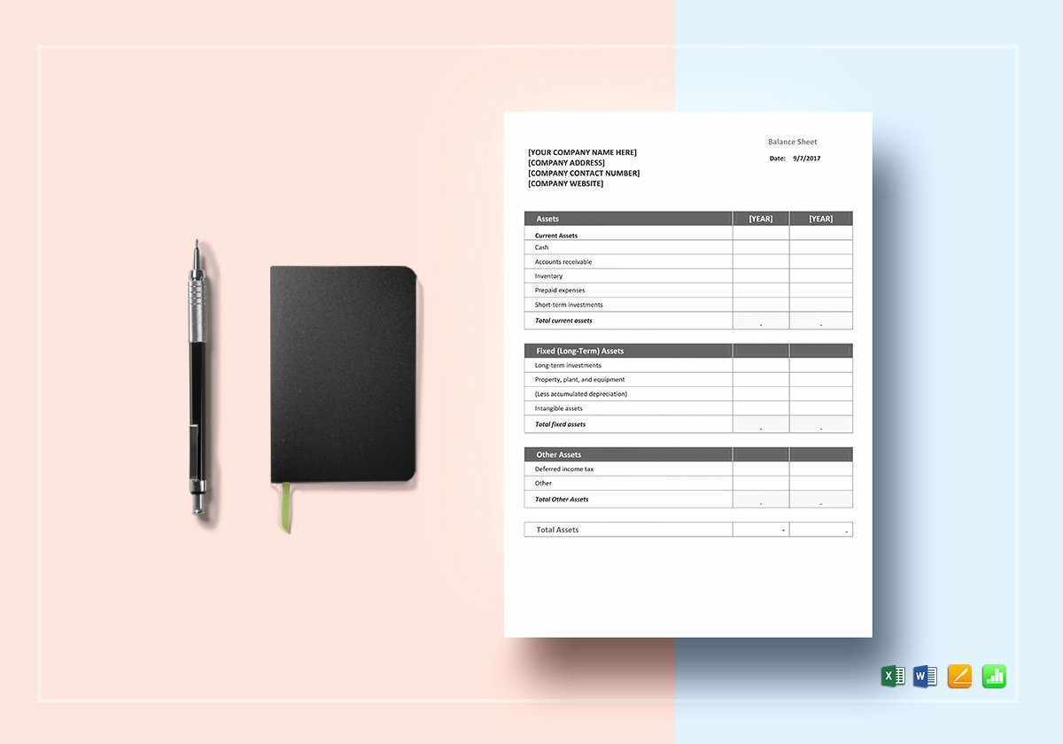 Balance Sheet Template Word Inspirational Balance Sheet Template In Word Excel Google Docs Apple