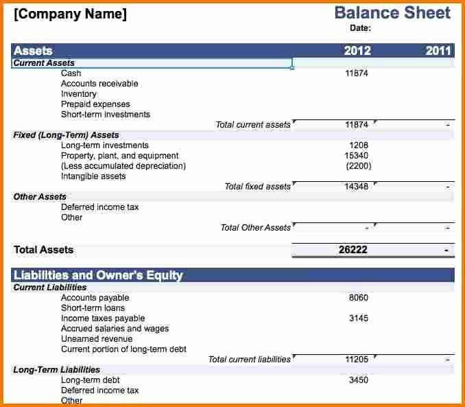 Balance Sheet Template Word Lovely Download Personal Balance Sheet Template Microsoft Word
