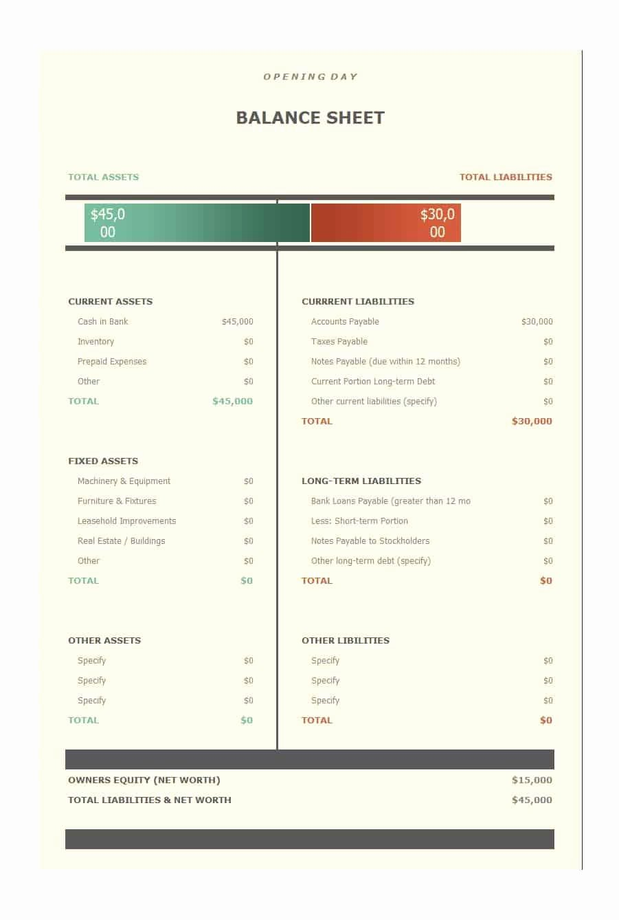 Balance Sheet Template Word Luxury 22 Free Balance Sheet Templates In Excel Pdf Word