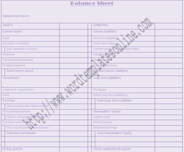 Balance Sheet Template Word Luxury Balance Sheet Template Microsoft Word Templates