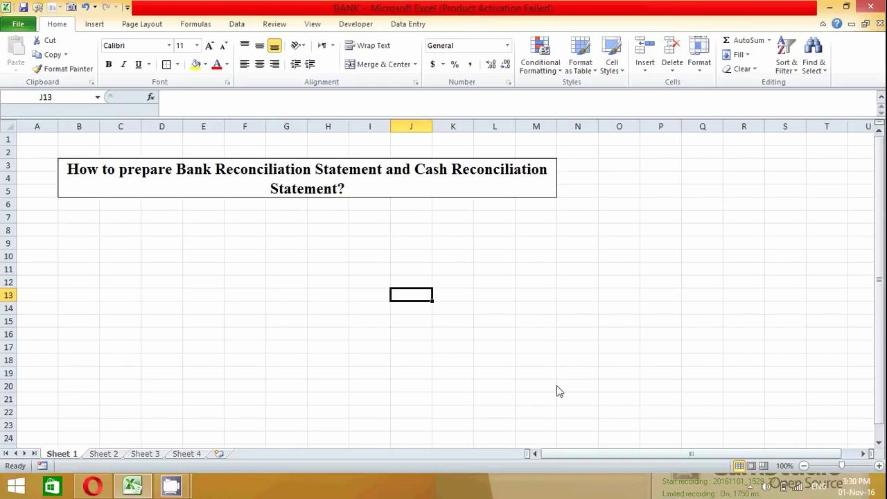Bank Statement Template Excel Fresh How to Prepare Bank Reconciliation Statement In Excel