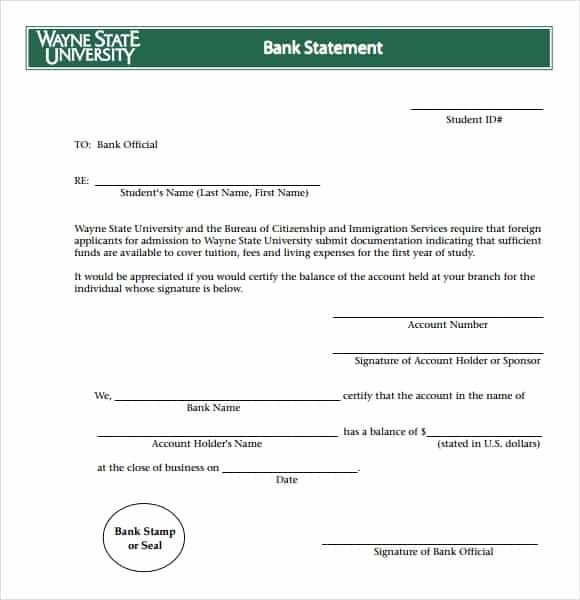 Bank Statement Template Excel Luxury 9 Free Bank Statement Templates Word Excel Sheet Pdf