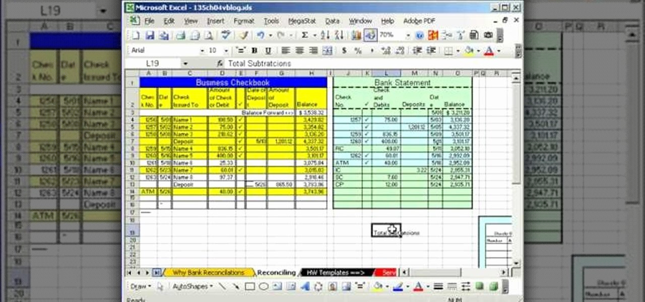 Bank Statement Template Excel New How to Do Bank Reconciliation In Microsoft Excel