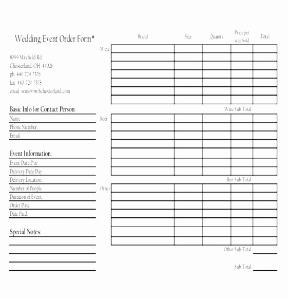 Banquet event order Template Awesome order Template – 20 Free Word Excel Pdf Documents Download