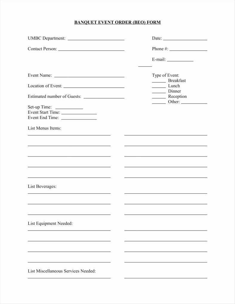 Banquet event order Template New 10 event order form Templates Google Docs Google