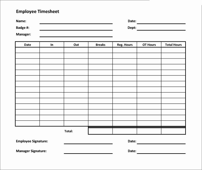 Basic Monthly Timesheet Template Best Of 60 Sample Timesheet Templates Pdf Doc Excel