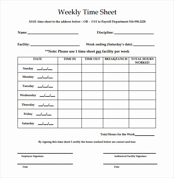 Basic Monthly Timesheet Template Unique Simple Time Sheet – Emmamcintyrephotography