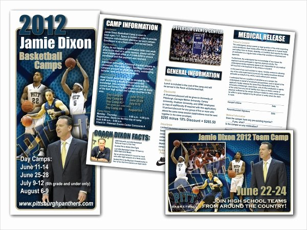 Basketball Camp Flyer Template Awesome 16 Basketball Camp Brochures Free Psd Eps Ai format