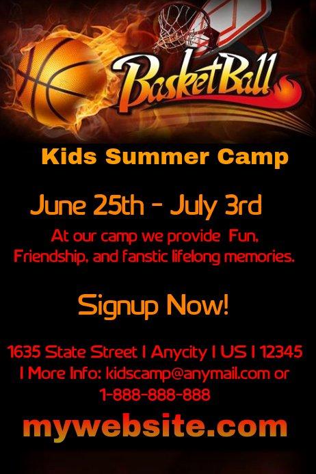 Basketball Camp Flyer Template Best Of Kids Basketball Camp Template