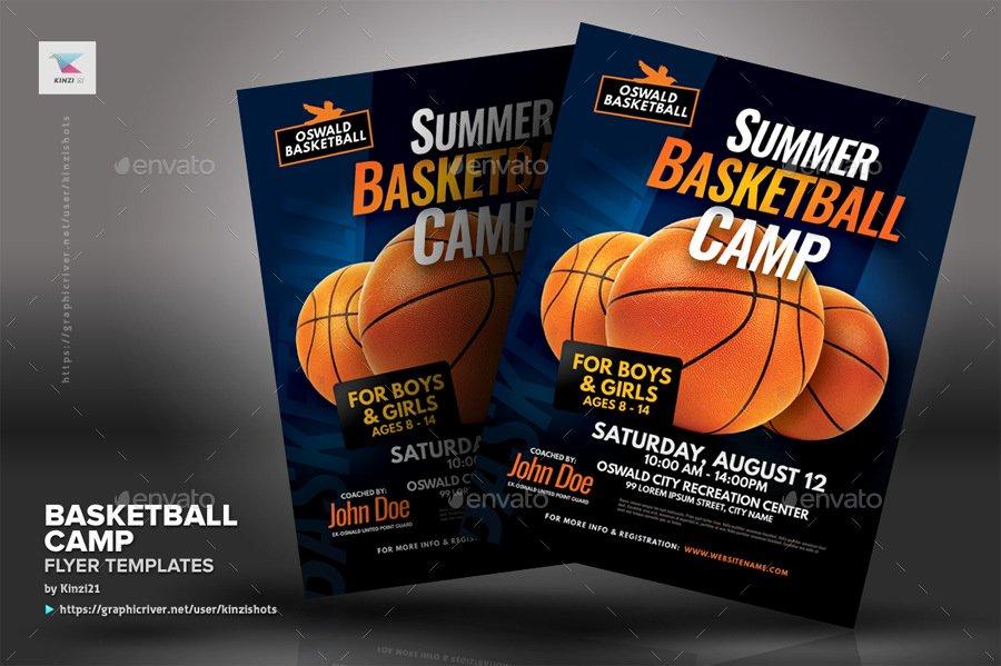 Basketball Camp Flyer Template Fresh Basketball Camp Flyer Templates by Kinzishots