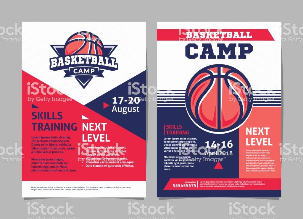 Basketball Camp Flyer Template Fresh Basketball Camp Posters Flyer with Basketball Ball