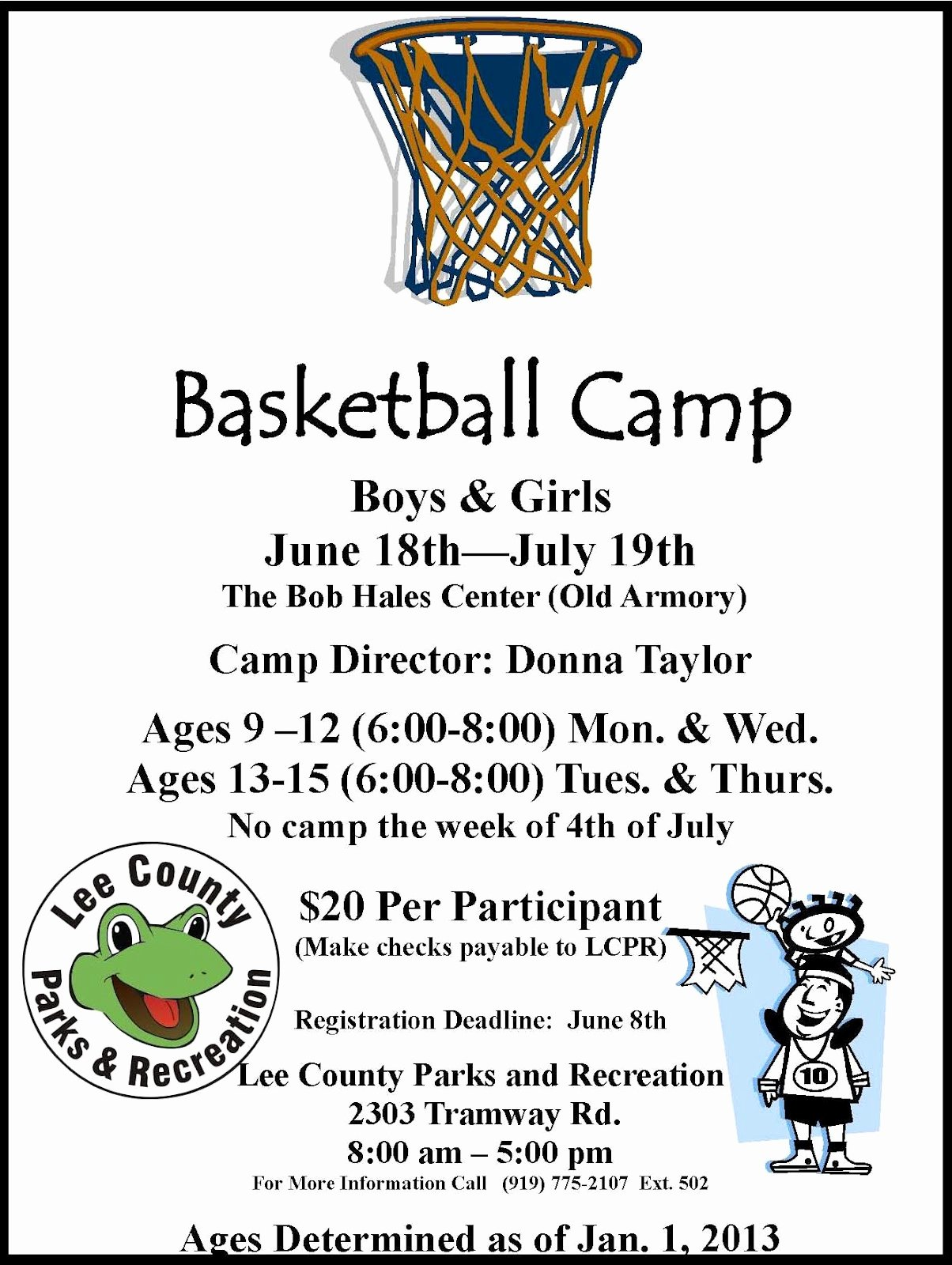 Basketball Camp Flyer Template Inspirational Lee County Government Basketball Camp