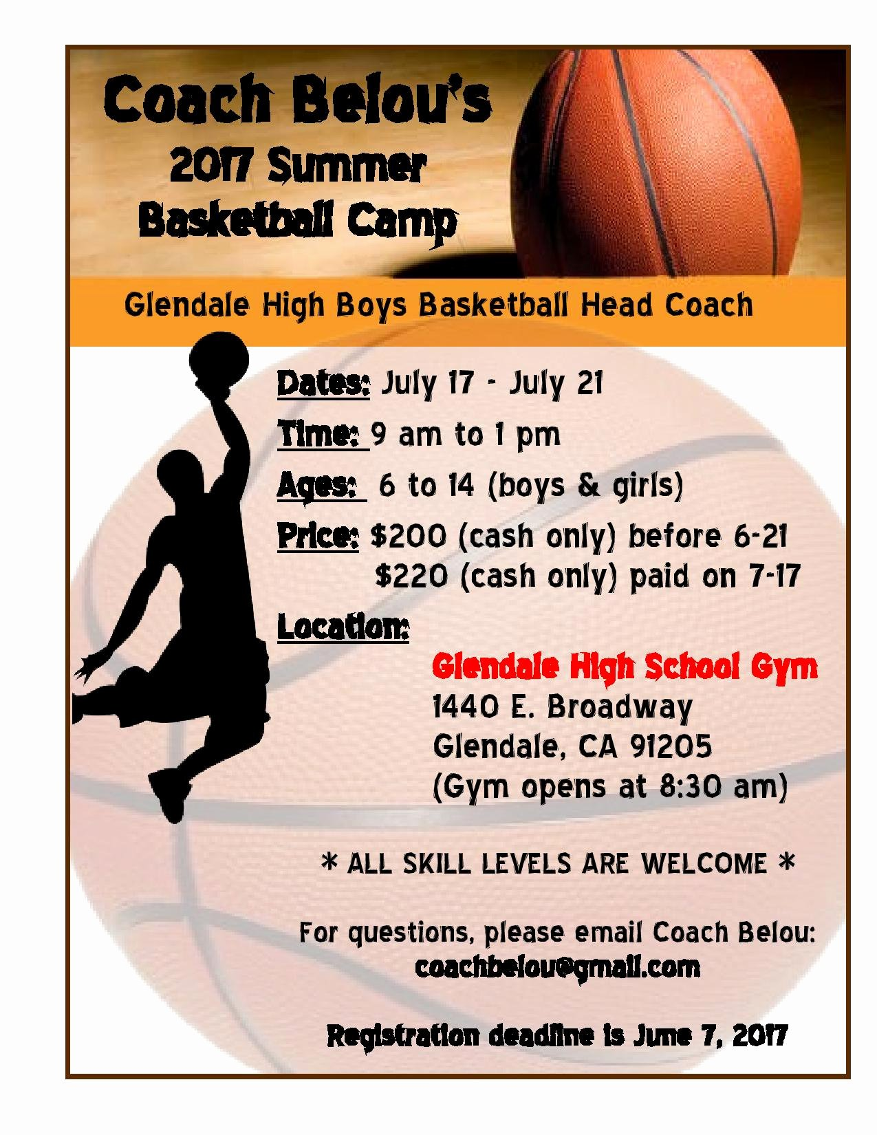 Basketball Camp Flyer Template Luxury Coach Belou S Summer Basketball Camp Full force Basketball