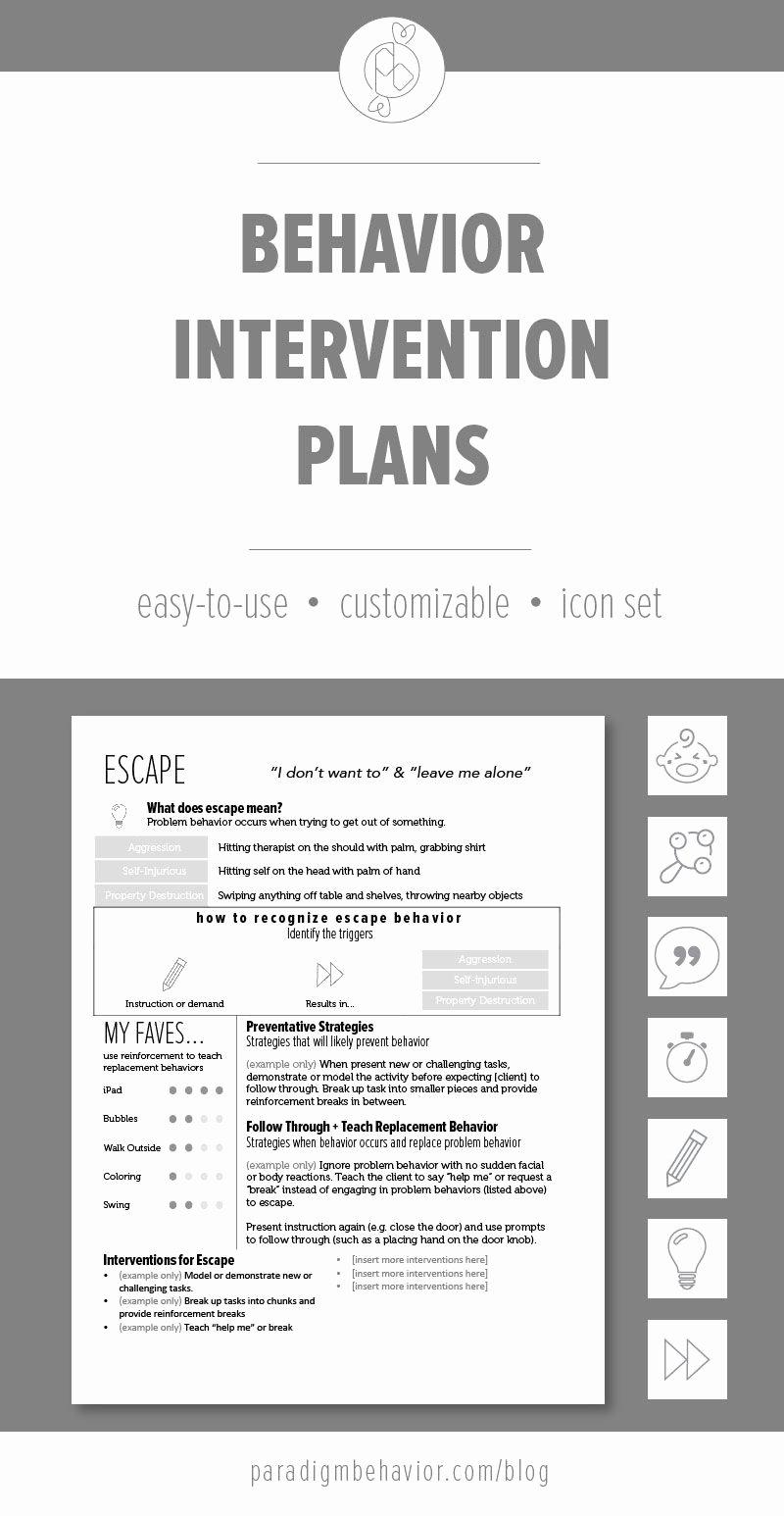Behavior Intervention Plan Template Elegant these Behavior Intervention Plan Bip Templates are Meant