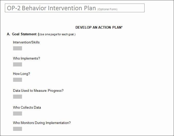 Behavior Intervention Plan Template Unique Behavior Intervention Plan Template 4 Free Word Pdf