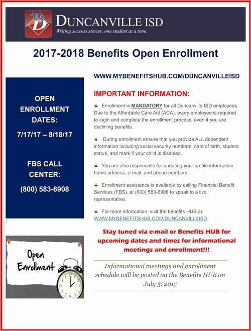 Benefit Enrollment form Template Beautiful Duncanville isd Board Of Trustees Meeting Summary