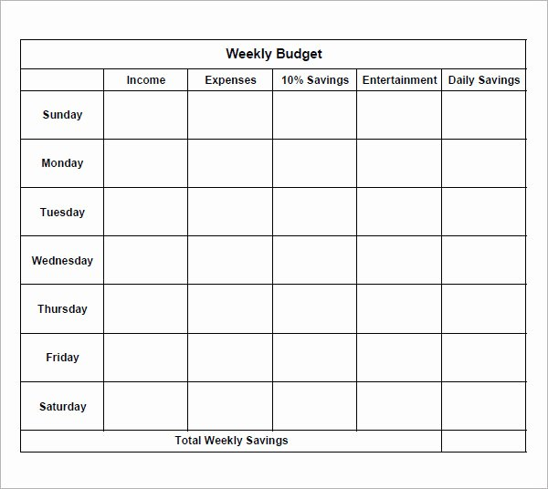 Bi Weekly Budget Template Awesome 23 Free Bi Weekly Bud Templates Ms Fice Documents