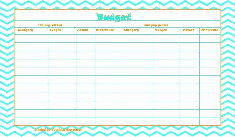 Bi Weekly Budget Template Lovely A Free Printable Bud Template This Template is