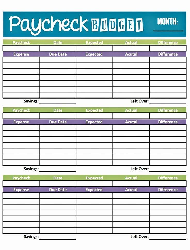 Bi Weekly Budget Template Unique Bud Worksheet Printable