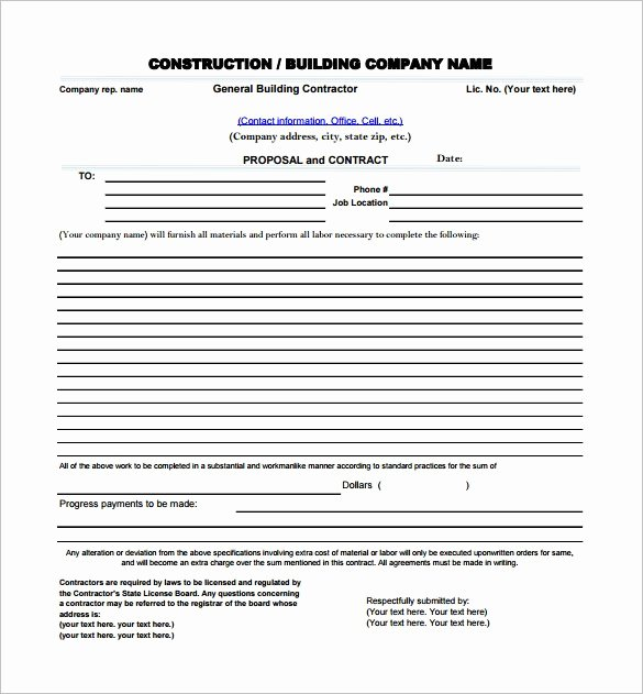 Bid Proposal Template Pdf Best Of Construction Proposal Template