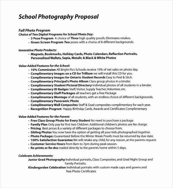 Bid Proposal Template Pdf Elegant Sample Graphy Proposal Template 9 Free Documents