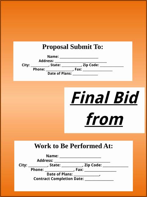 Bid Proposal Template Pdf Inspirational Download Bid Proposal Template for Free formtemplate