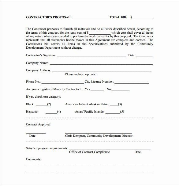 Bid Proposal Template Pdf Inspirational Proposal Templates 170 Free Word Pdf format Download