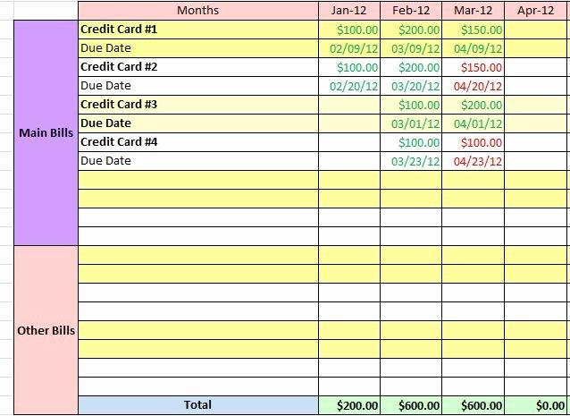 Bill organizer Template Excel Lovely 10 Free Bill Tracker Spreadsheet Samplebusinessresume