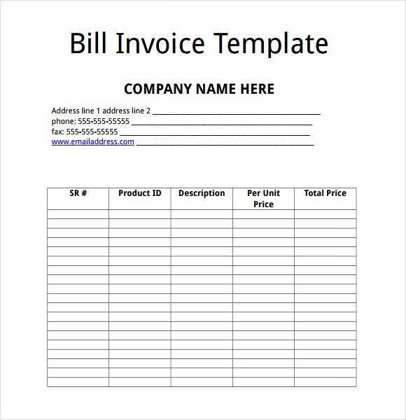 Billing Invoice Template Free Awesome Free 10 Billing Invoice Templates In Free Samples