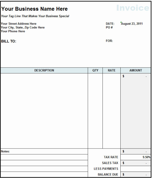 Billing Invoice Template Free Best Of Blank Invoice Statement form