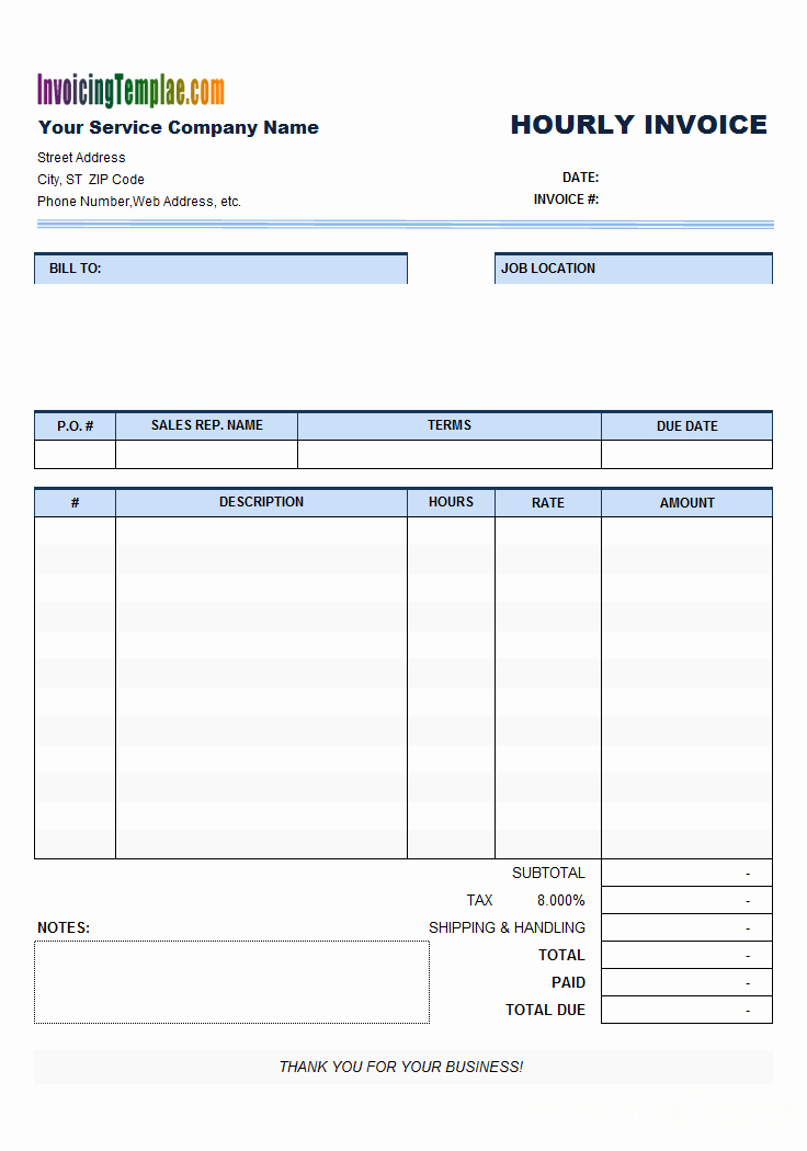 Billing Invoice Template Free Fresh Free Invoice Template for Hours Worked 20 Results Found