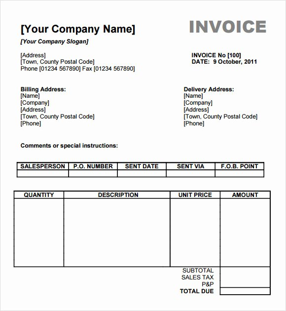 Billing Invoice Template Free Inspirational Free 13 Billing Invoice Samples In Google Docs