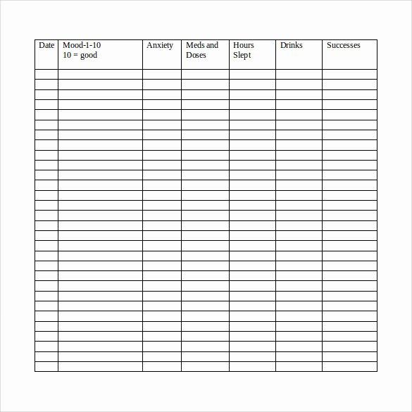 Bipolar Mood Chart Template Beautiful Sample Mood Chart 11 Documents In Pdf Word