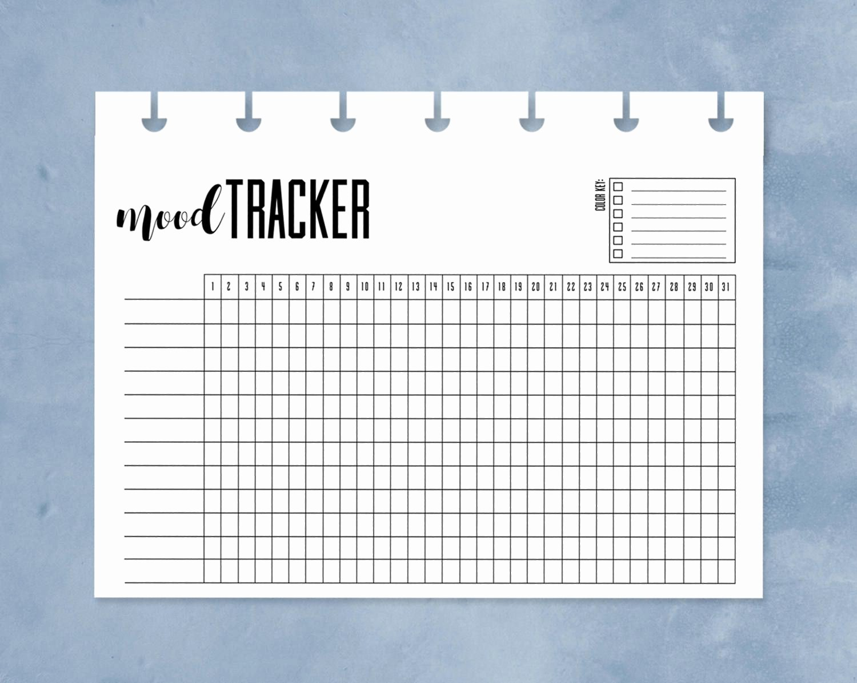 Bipolar Mood Chart Template Fresh Mood Tracker Happy Planner Mini Mood Chart Printable E