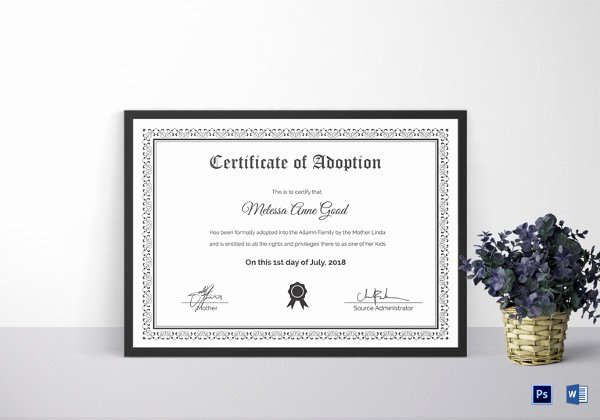 Birth Certificate Template Word Awesome Birth Certificate Template 44 Free Word Pdf Psd