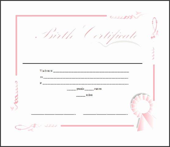 Birth Certificate Template Word Luxury 7 Ms Word Birth Certificate Template Sampletemplatess