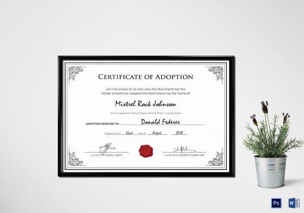 Birth Certificate Template Word New Birth Certificate Template 38 Word Pdf Psd Ai