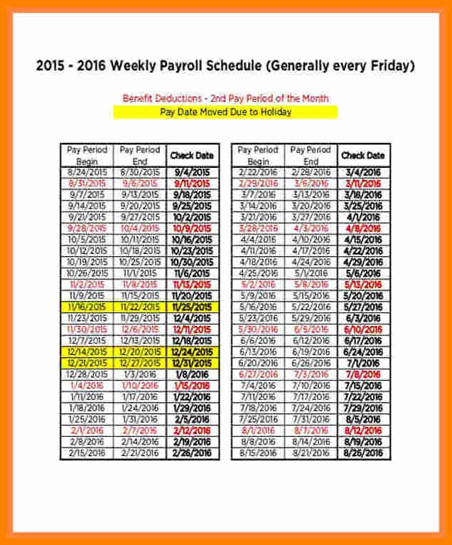 Biweekly Pay Schedule Template Awesome 14 Securitas Pay Calendar 2018