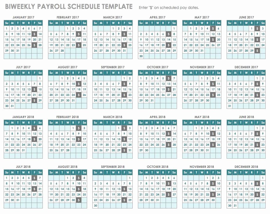 Biweekly Pay Schedule Template Fresh 15 Free Payroll Templates