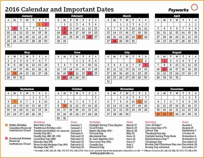 Biweekly Pay Schedule Template Inspirational 11 2016 Bi Weekly Payroll Calendar