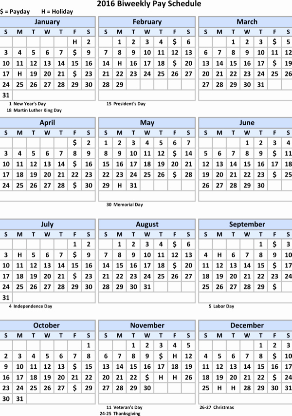 Biweekly Pay Schedule Template New Download Biweekly Payroll Schedule Calendar Template for
