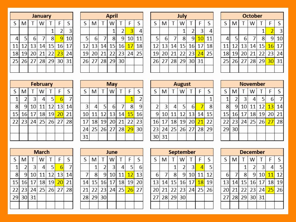 Biweekly Pay Schedule Template Unique 9 2018 Bi Weekly Payroll Calendar