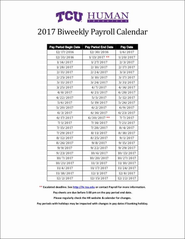 Biweekly Pay Schedule Template Unique Free 26 Payroll Samples & Templates In Pdf