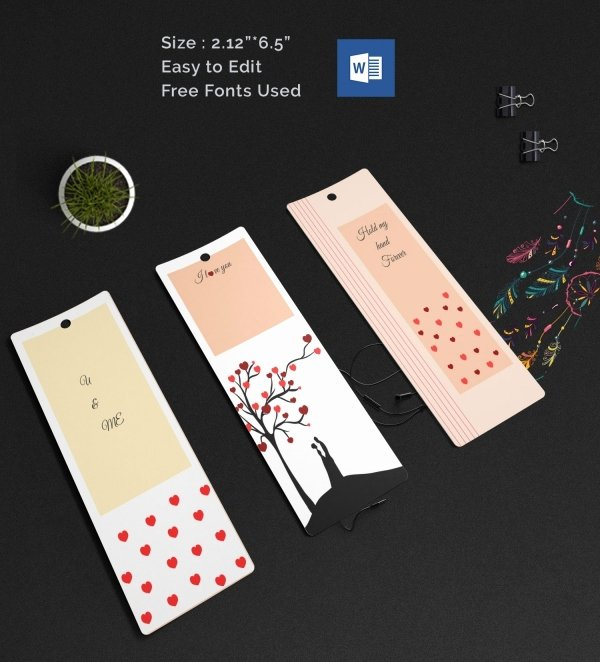 Blank Bookmark Template Word Awesome Blank Bookmark Template 135 Free Psd Ai Eps Word